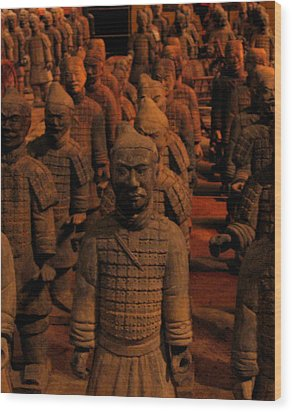 Wood Print featuring the photograph Warriors by Patricia Januszkiewicz