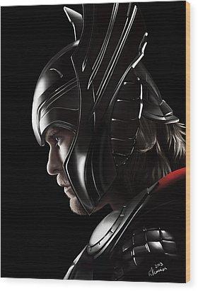 Warrior's Stare Wood Print by Kayleigh Semeniuk