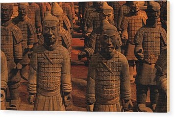 Wood Print featuring the photograph Warriors Terra Cotta by Patricia Januszkiewicz