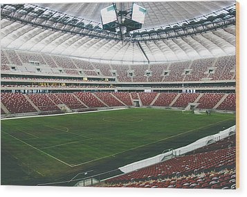 Warsaw Stadion Wood Print by Pati Photography