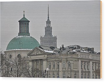 Warsaw Study In Architecture Wood Print by Steven Richman