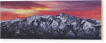 Wasatch Sunrise 3x1 Wood Print