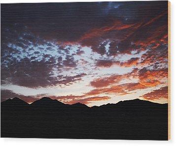 Wasatch Sunrise Wood Print by Rona Black