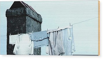 Wood Print featuring the photograph Wash Day Blues In New Orleans Louisiana by Michael Hoard