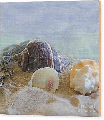 Washed Ashore Wood Print by Betty LaRue