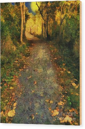 Washed In Gold Wood Print by RC deWinter
