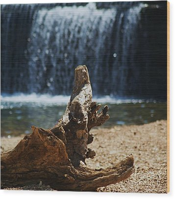 Washed Up Wood Print