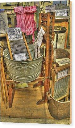 Washing Machine Wood Print by David Simons