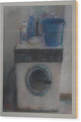 Washing Machine Wood Print by Paez  Antonio