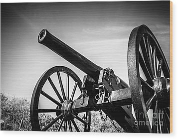 Washington Artillery Park Cannon In New Orleans Wood Print by Paul Velgos