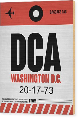 Washington D.c. Airport Poster 1 Wood Print by Naxart Studio