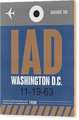 Washington D.c. Airport Poster 4 Wood Print by Naxart Studio