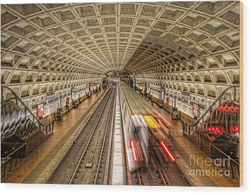 Washington Dc Metro Station Xi Wood Print