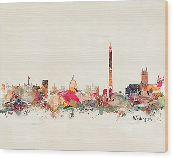 Washington Dc Skyline Wood Print