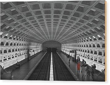 Wood Print featuring the photograph Washington Dc Subway by Geraldine Alexander