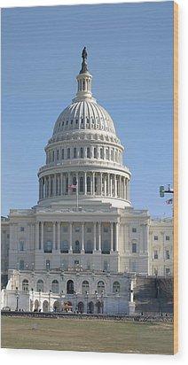 Washington Dc - Us Capitol - 01131 Wood Print by DC Photographer
