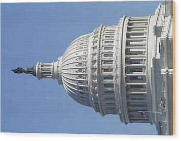 Washington Dc - Us Capitol - 011310 Wood Print by DC Photographer