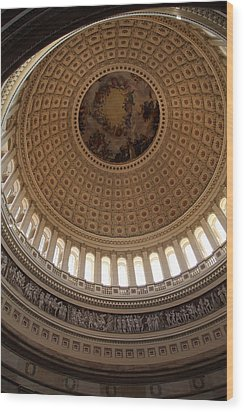 Washington Dc - Us Capitol - 011314 Wood Print by DC Photographer