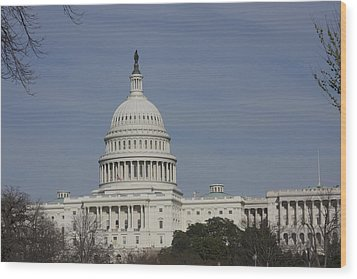 Washington Dc - Us Capitol - 01136 Wood Print by DC Photographer