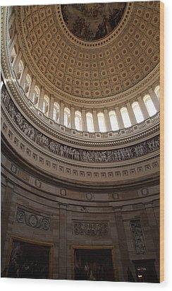 Washington Dc - Us Capitol - 01139 Wood Print by DC Photographer