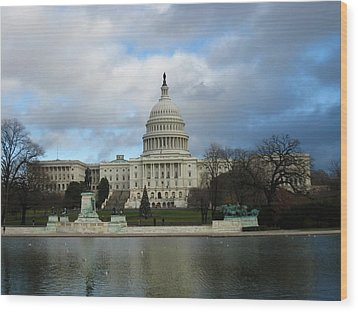 Washington Dc - Us Capitol - 12122 Wood Print by DC Photographer