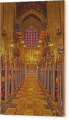 Washington Memorial Chapel Altar Wood Print