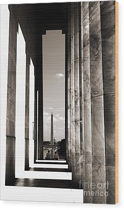 Wood Print featuring the photograph Washington Monument by Angela DeFrias