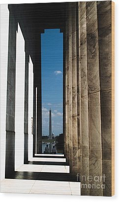Wood Print featuring the photograph Washington Monument Color by Angela DeFrias