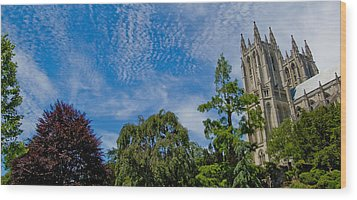 Wood Print featuring the photograph Washington National Cathedral by Michael Donahue