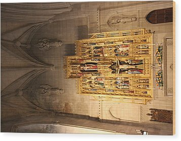 Washington National Cathedral - Washington Dc - 0113100 Wood Print by DC Photographer