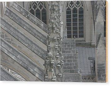 Washington National Cathedral - Washington Dc - 0113111 Wood Print by DC Photographer