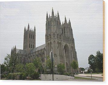 Washington National Cathedral - Washington Dc - 0113112 Wood Print by DC Photographer