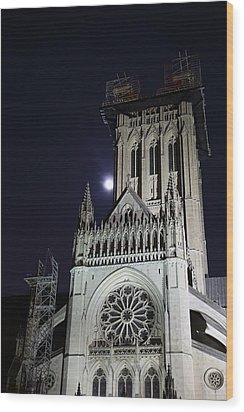 Washington National Cathedral - Washington Dc - 0113113 Wood Print by DC Photographer