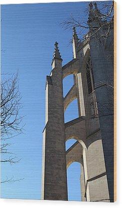 Washington National Cathedral - Washington Dc - 0113125 Wood Print by DC Photographer