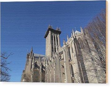 Washington National Cathedral - Washington Dc - 0113126 Wood Print by DC Photographer