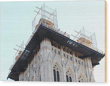 Washington National Cathedral - Washington Dc - 01132 Wood Print by DC Photographer
