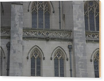 Washington National Cathedral - Washington Dc - 011358 Wood Print by DC Photographer