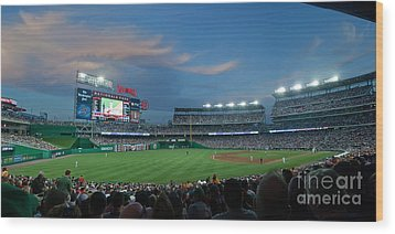 Washington Nationals In Our Nations Capitol Wood Print by Thomas Marchessault