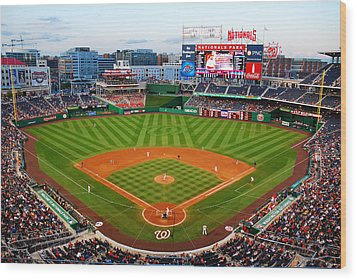 Washington Nationals Park Wood Print by James Kirkikis