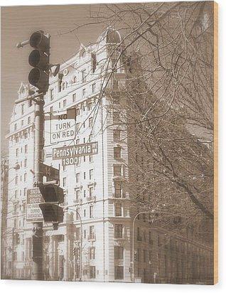 Wood Print featuring the photograph Washington by Paula Brown