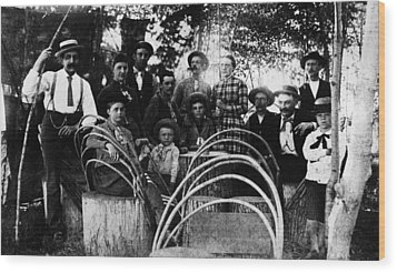 Wood Print featuring the photograph Washington Pioneers, C1900 by Granger
