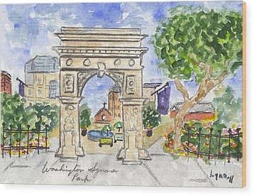 Washington Square Park Wood Print