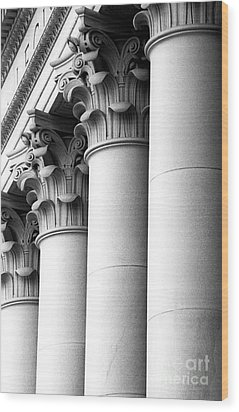 Wood Print featuring the photograph Washington State Capitol Columns by Merle Junk