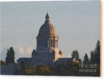 Wood Print featuring the photograph Washington State Capitol II by Susan Parish