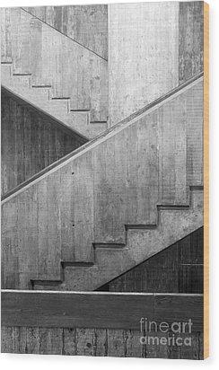 Washington University Eliot Hall Stairway Wood Print by University Icons