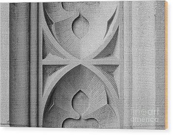 Washington University Stone Detail Wood Print by University Icons