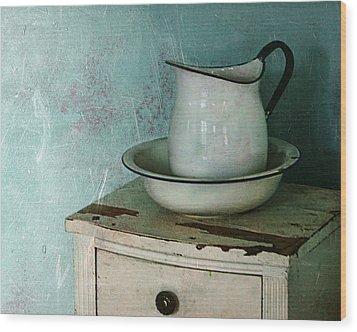 Washstand Still Life Wood Print by Nikolyn McDonald