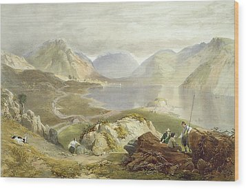 Wast Water, From The English Lake Wood Print by James Baker Pyne