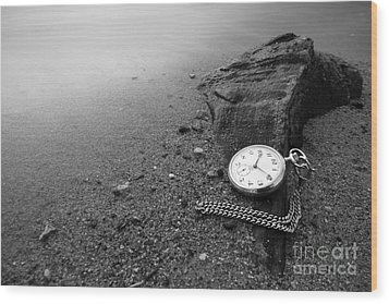 Wasted Time Wood Print