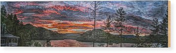 Watauga Lake Sunset Wood Print by Tom Culver